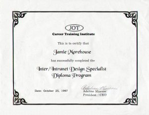 Inter/Intranet Design Specialist Diploma