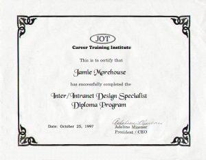 Inter/Intranet Design Specialist Diploma